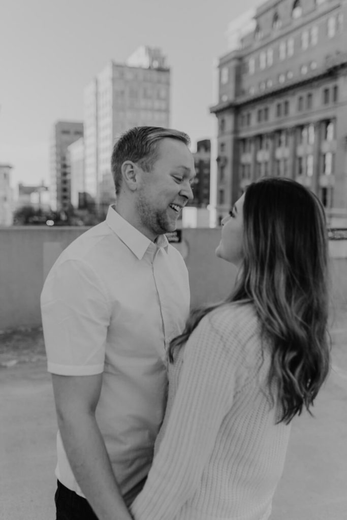 downtown Omaha engagement